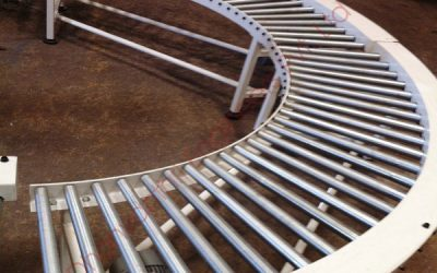 Powerised Radius Roller Conveyor