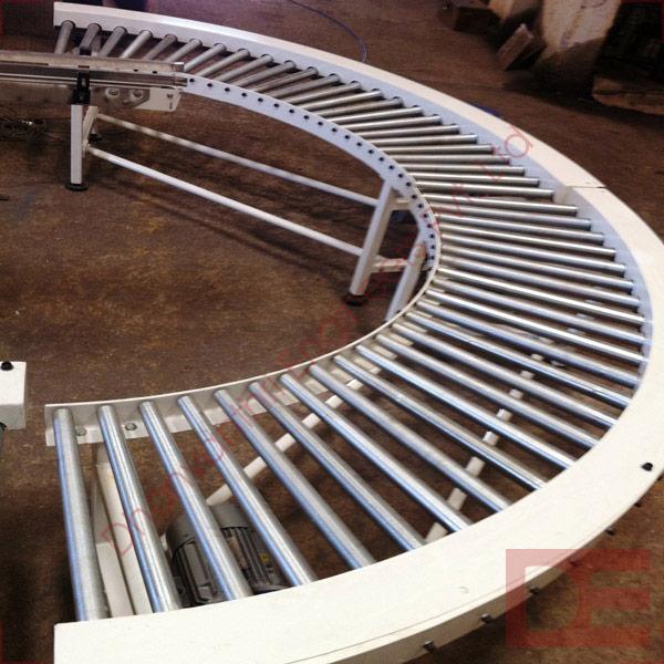 Powerised Radius Roller Conveyor