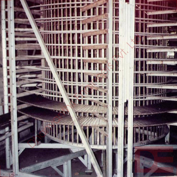 Spiral Down Wire Mesh Chain Conveyor