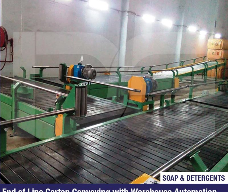 End of Line Carton Conveying with Warehouse Automation